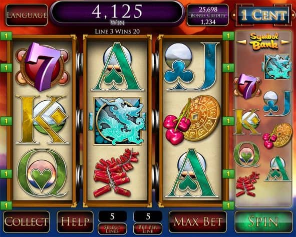 Premier Gaming Year of the Dragon Slot Machine